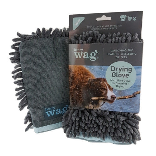 Henry Wag Microfibre Glove, Pet Dog Drying Cloth | Barks & Bunnies