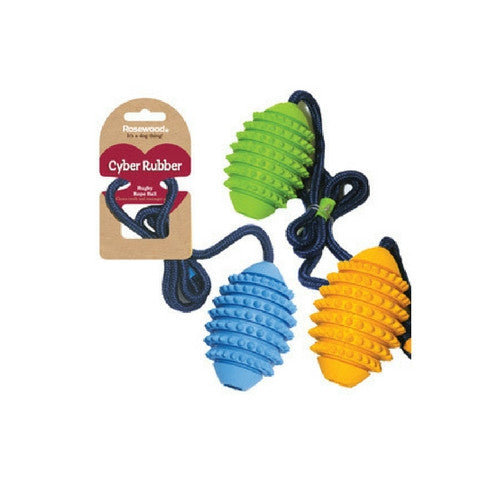 Rosewood Cyber Jack Rugby Rope Ball Dog Toy | Barks & Bunnies