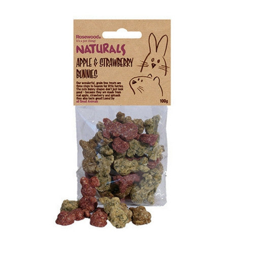 Rosewood Naturals Apple & Strawberry Bunnies | Barks & Bunnies