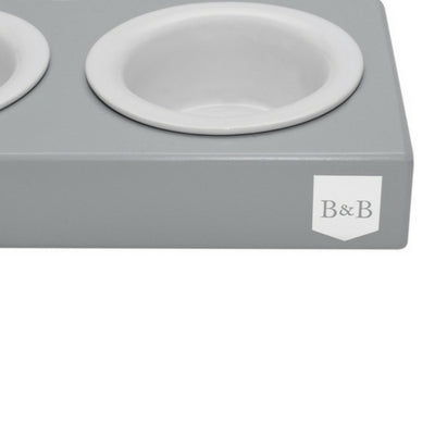 Bowl & Bone Republic DUO CERAMIC Grey, Dog Bowl | Barks & Bunnies