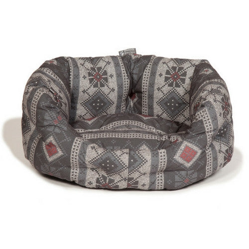 Danish Design Fairisle Pebble Deluxe Slumber Bed for Dogs | Barks & Bunnies