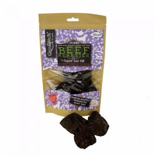 Green & Wilds Beef Hearties, Dog Treats for Sensitive Stomachs  | Barks & Bunnies
