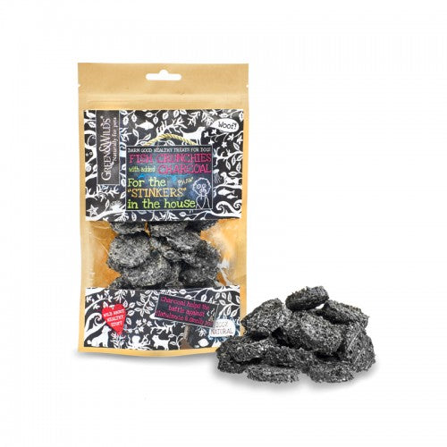 Green & Wilds Fish Crunchies with Charcoal for Dogs | Barks & Bunnies