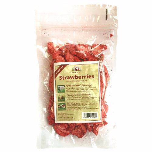 The Hay Experts Freeze Dried Strawberry for Rabbits | Barks & Bunnies