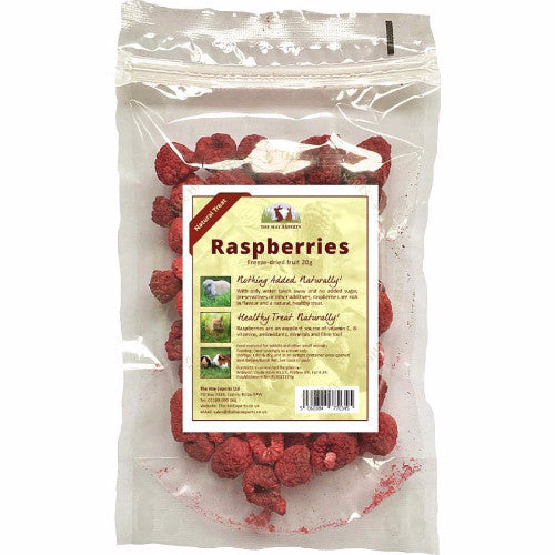 The Hay Experts Freeze Dried Raspberries for Rabbits | Barks & Bunnies