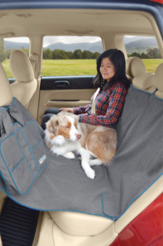 Kurgo Heather Wander Hammock, Rear Car Seat Cover | Barks & Bunnies