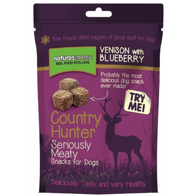 Natures Menu Country Hunter Seriously Meaty Freeze Dried Venison dog treats | Barks & Bunnies