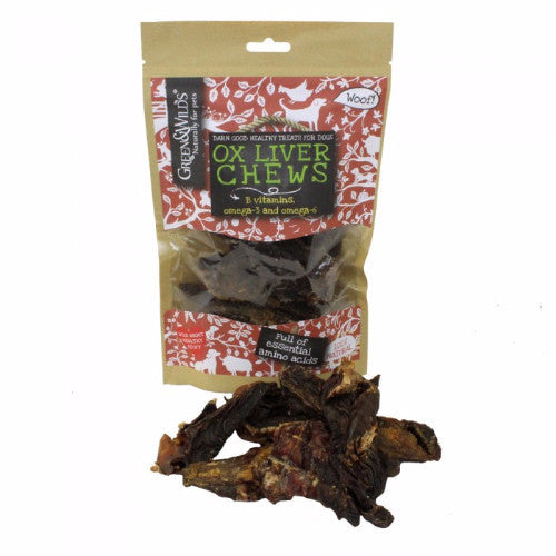 Green & Wilds Ox Liver Chew, Natural Air Dried Dog Treats  | Barks & Bunnies