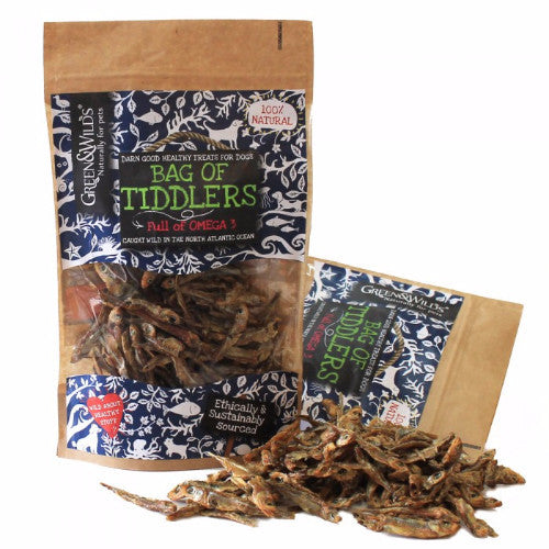 Green & Wilds Bag of Tiddlers, Fish Treats for Dogs | Barks & Bunnies