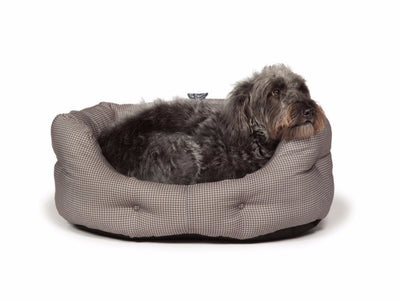 Danish Design Vintage Dogstooth Deluxe Slumber Bed for Dogs | Barks & Bunnies