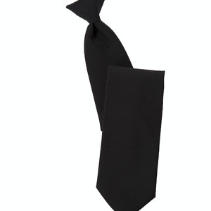 Clip On Satin Black Tie