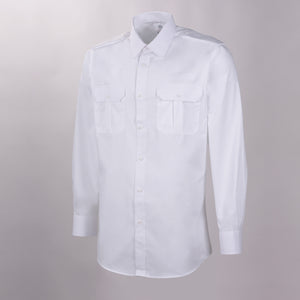 Flap Pocket Long Sleeve Tapered Shirt w/ Eyelet