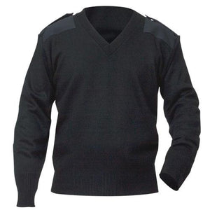 Unisex Commando V-Neck Navy Sweater