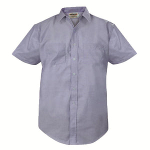 Male Shirt Elbeco Express Blue S/S 65/35
