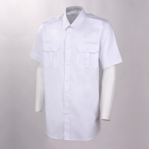 Sterling Flap Pocket Short Sleeve Tapered Soft Collar Shırt w/Eyelet