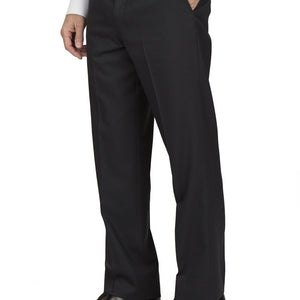 Austin Flat Front Comfort Fit Sharkskin Blue Pants