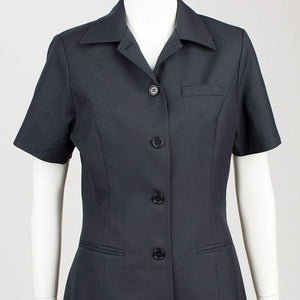 Gillian Short Sleeve Sharkskin Blue Blazer