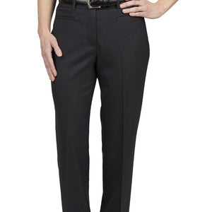 Mellisa Flat Front Black Cotton Pants