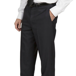 Cody Flat Front Comfort Fit Sharkskin Navy Pants