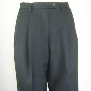Pleated SharkSkin Black Pants