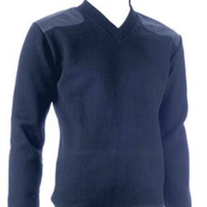 Sweater Long Sleeve Fleece Lined Navy