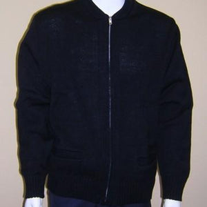 Zip-Up Unisex Navy Cardigan