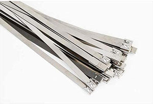 Solar Cable Ties Zip Ties 316 Stainless Steel Uncoated 360mm x 4.6mm - Pack of 100pcs