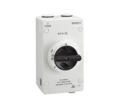 ZJBenny 1000V 32A 4P DC Enclosed Isolator Switch BYH-32