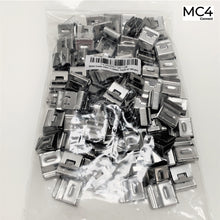 Load image into Gallery viewer, Stainless Steel Solar Panel Cable Clips 2 cables - 100pcs