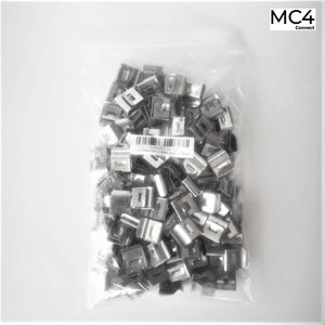 Stainless Steel Solar Panel Cable Clips 2 cables - 100pcs
