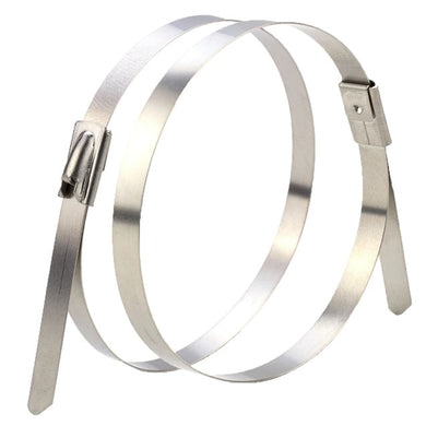 Solar Cable Ties 316 Zip Ties Stainless Steel Uncoated 300mm x 4.6mm - Pack of 100pcs
