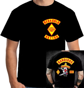 Bandidos Motorcycle Club Simple Graphic Design Shirt Fancy