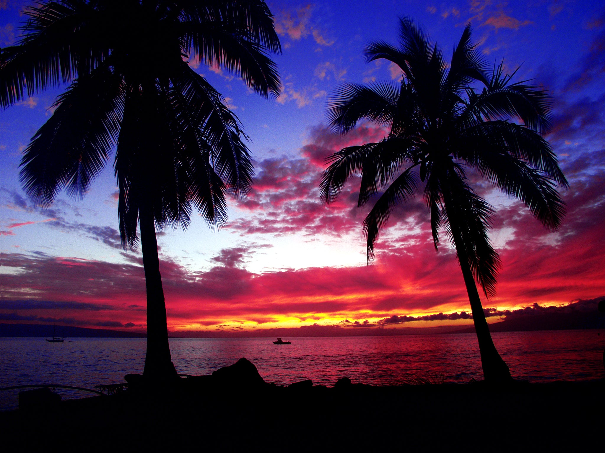 'Canoe Beach Sunset'