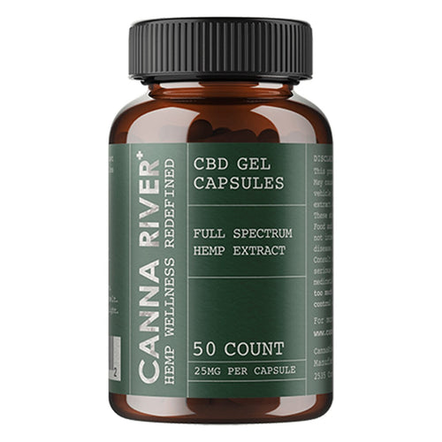 CANNA RIVER - CBD CAPSULES - FULL SPECTRUM GELS WITH HEMP EXTRACT