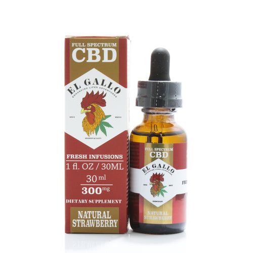 El Gallo strawberry-flavored CBD oil from Serenity Potions