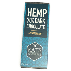 Kat's Naturals - Dark Chocolate Hemp Bar