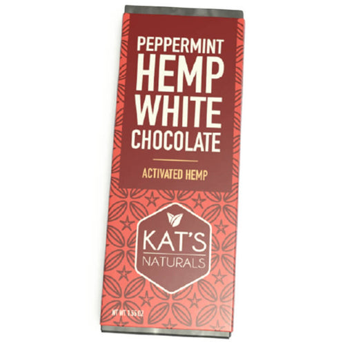 Kat's Naturals - Peppermint White Chocolate Hemp Bar