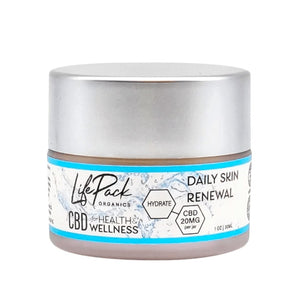 LIFE PACK ORGANICS - CBD TOPICAL - DAILY SKIN RENEWAL CREAM