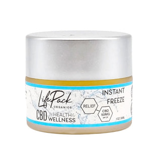 LIFE PACK ORGANICS - CBD TOPICAL - INSTANT FREEZE CREAM