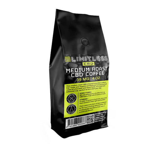 Limitless CBD - CBD Drinks - Full Spectrum Medium Roast Coffee