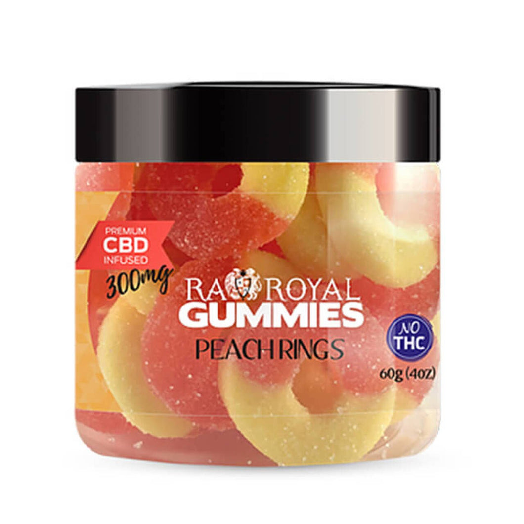RA Royal CBD - Peach Ring Gummies