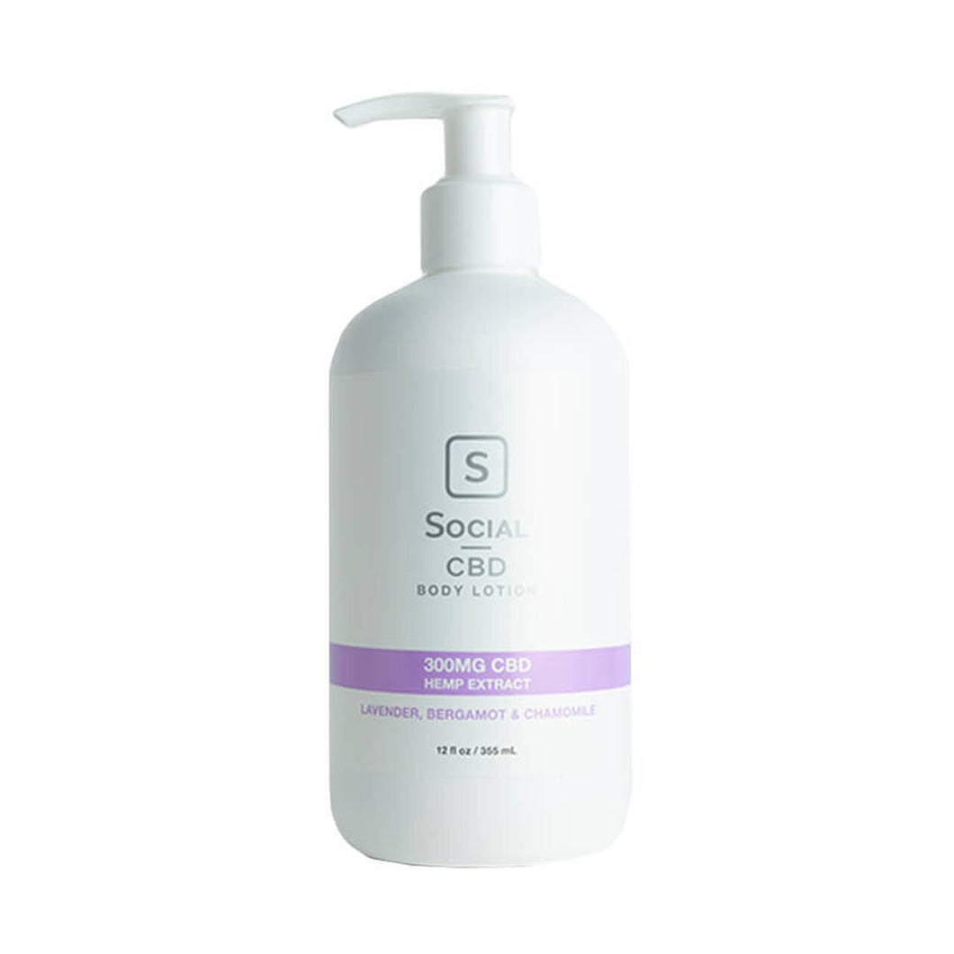 SOCIAL CBD - CBD TOPICAL - LAVENDER BODY LOTION