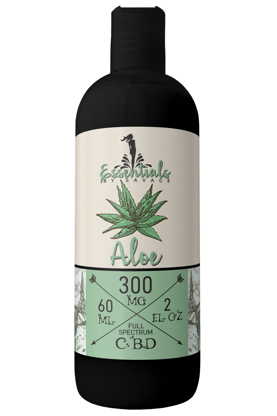 Aloe vera with CBD oil mixed in