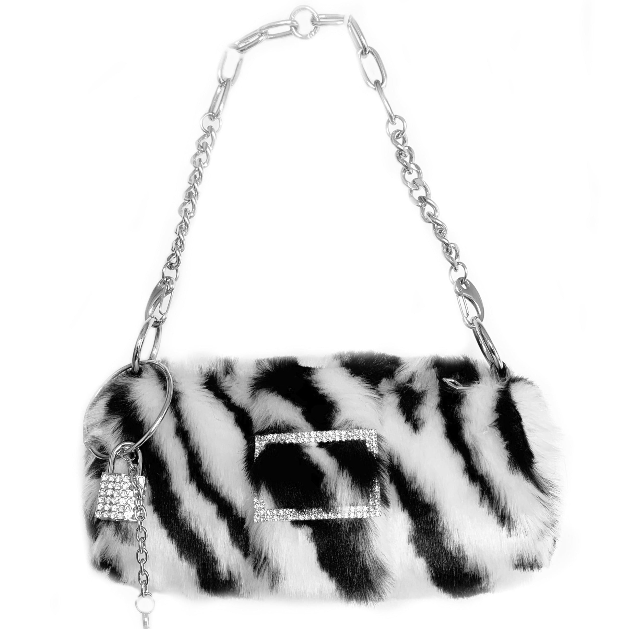 """Zebra"" Fluffy Handbag"