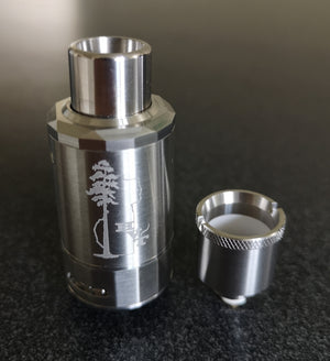 New Sequoia Atomizer by HVT in SS with AVS Hexcore Coil Beside