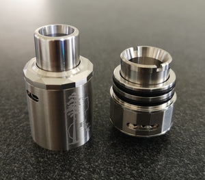 New Sequoia Atomizer by HVT in SS, Airflow Cap Removed