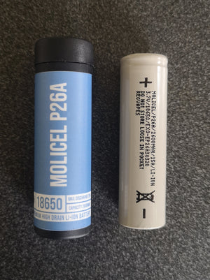 Molicel P26A 25A High Discharge 18650 Batteries