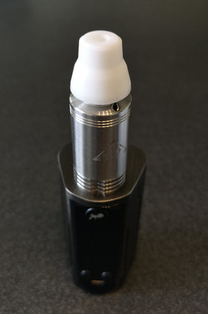 V4 Crucible, Silicone adapter and Wismec RX Gen3 with