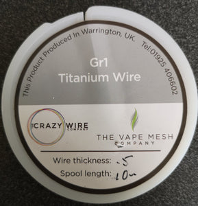 Grade 1 Titanium Wire - 0.5mm 26AWG - Annealed