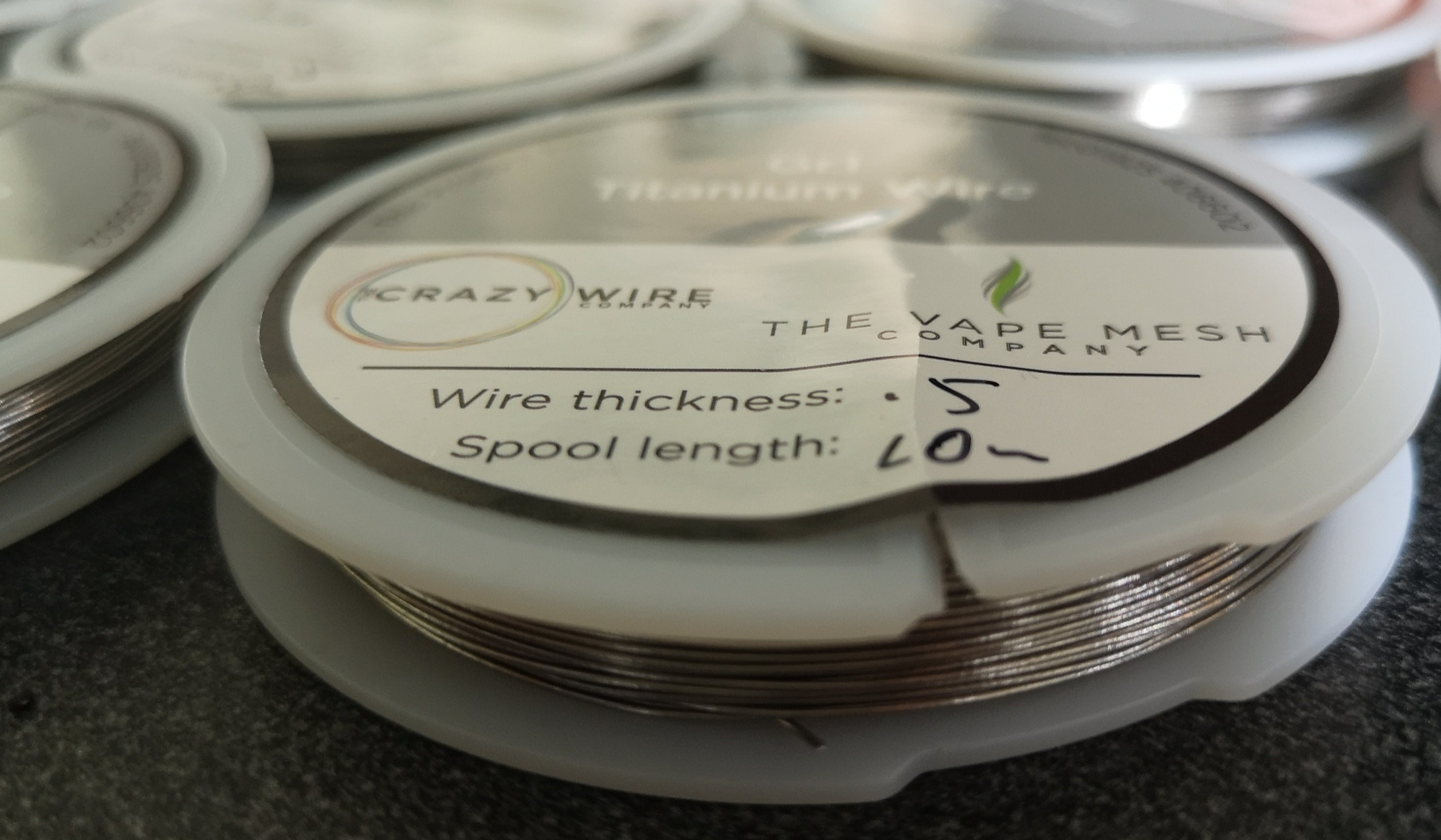 Grade 1 Titanium Wire - 0.5mm 26AWG - Annealed - Wire shot